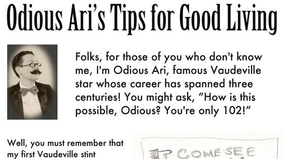 Odious Ari's Tips for Good Living