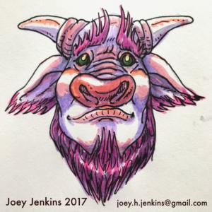 Morose Minotaur by Joey Jenkins